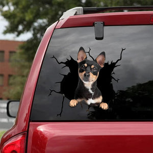 CHIHUAHUA CRACK STICKER DOGS LOVER 3
