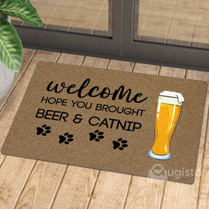Brought Beer and Catnip Doormat 01