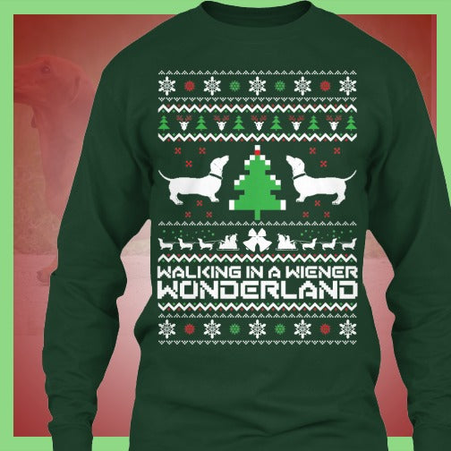 Walking In A Wiener Wonderland Ugly Sweater