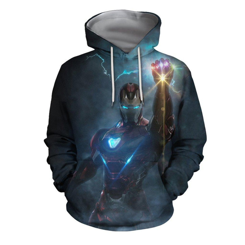 3D Print All Over IronMan-Mark85 EndGame Hoodie