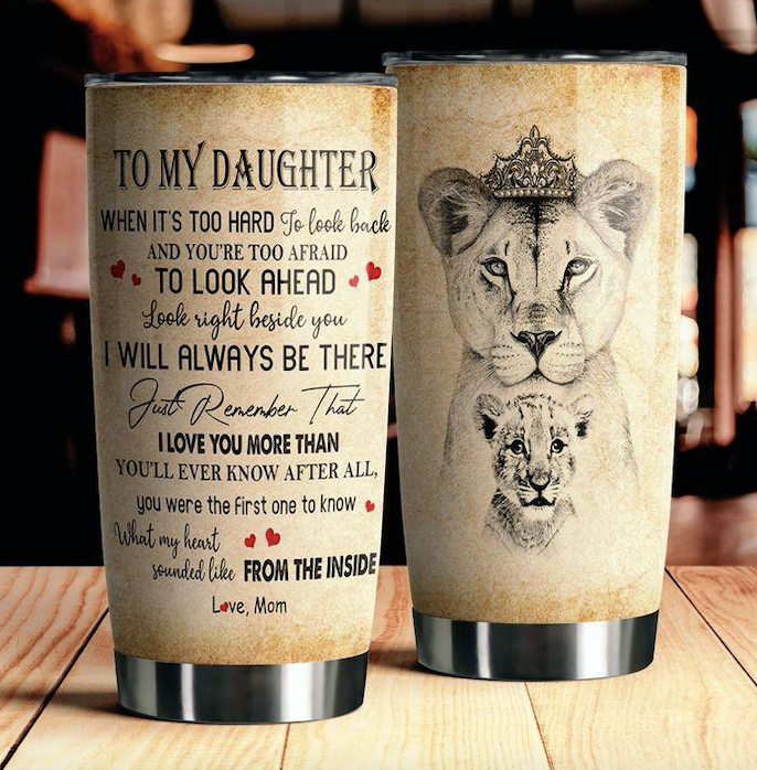To My Daughter Lover Tumbler 5