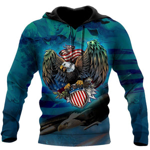 Beautiful All Over Printed American Eagle Hoodie MH1209201-MEI