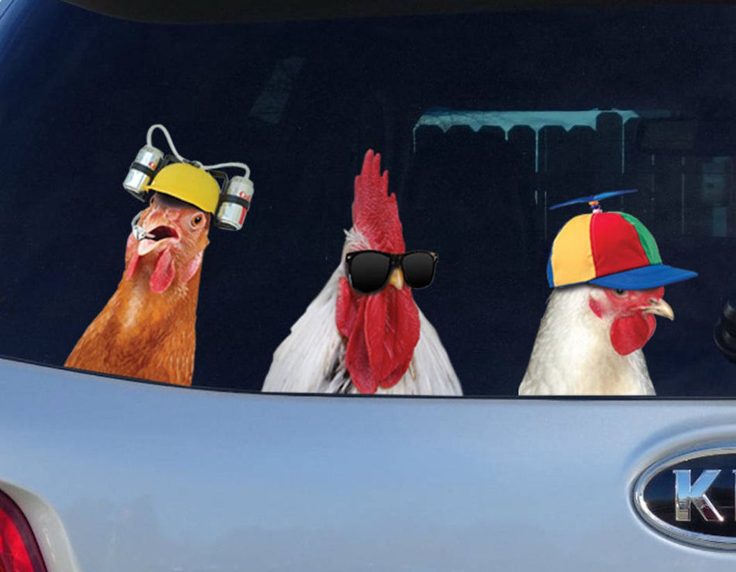 Chicken Car Sticker 3