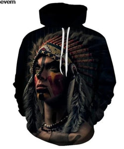 Native American Man 3D Hoodies Men Women All Over Printed Autumn Winter