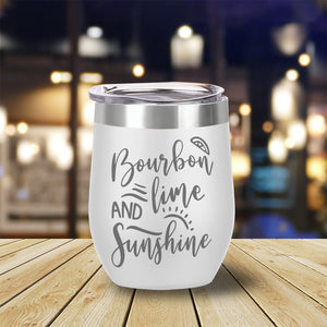 Bourbon Lime and Sunshine Wine Tumbler