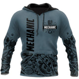 Mechanic 3D All Over Printed Hoodie For Men and Women TN160