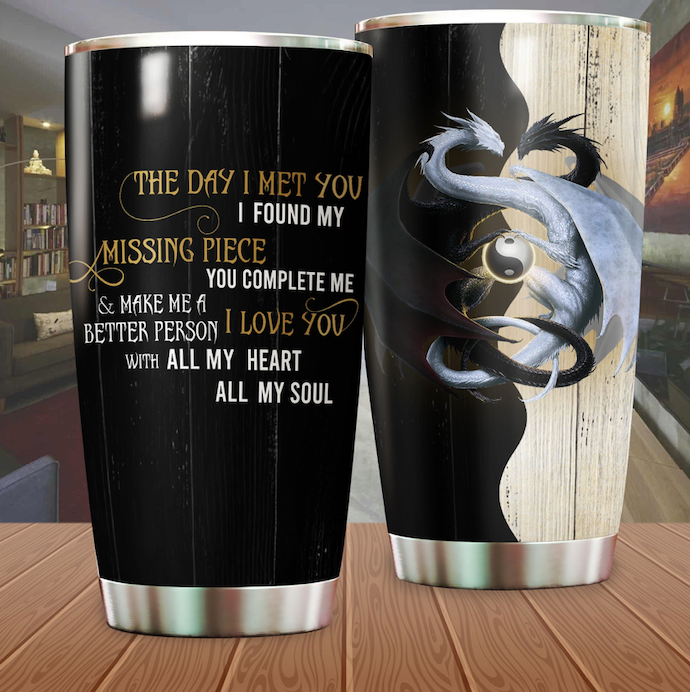 Dragon & Dungeon Tattoo Tumbler 6