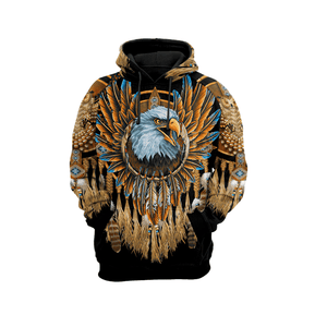 EAGLE DREAMCATCHER NATIVE AMERICAN  HOODIE ULTRA SOFT AND WARM