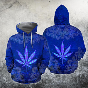 Hippie Royal Blue 3D All Over Printed Hoodie Shirt by SUN HAC28