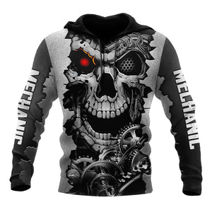 Mechanic 3D All Over Printed Hoodie For Men and Women TN1609