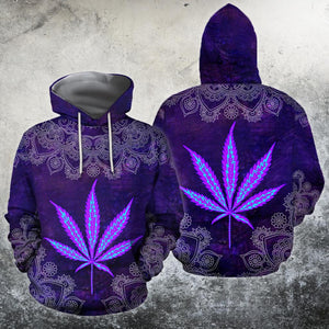 Hippie Purple 3D All Over Printed Hoodie Shirt Limited