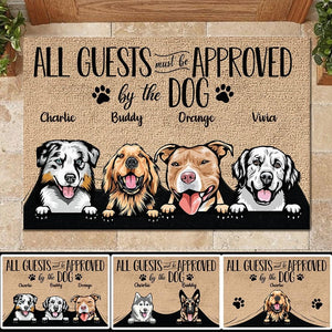 Personalized Dog Doormat - All Guests Must Be Approved