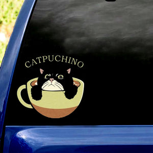 Cute Cat Sticker Catpuchino