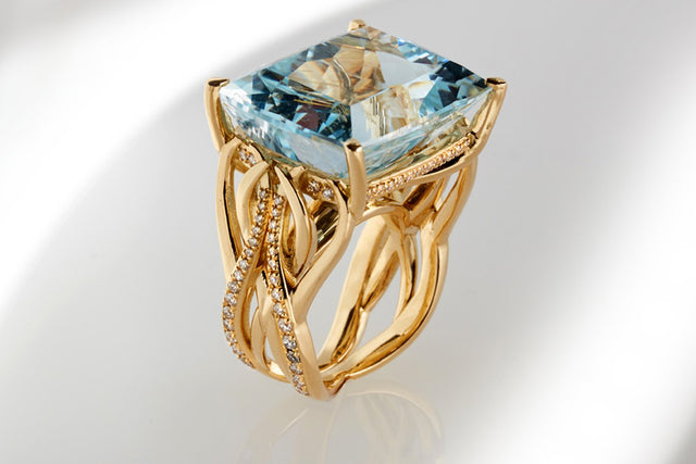 The Mare ring collection, inspired by the ocean, designed by Biagio Patalano
