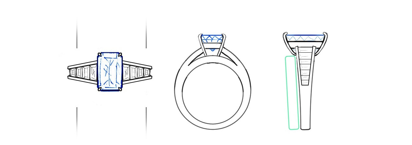 jewellery design drawing by biagio patalano