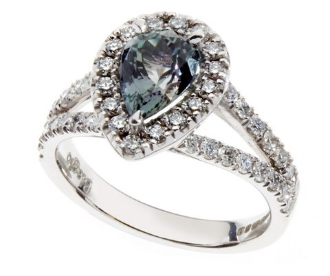 Gioia ring with Zoisite centrepiece stone