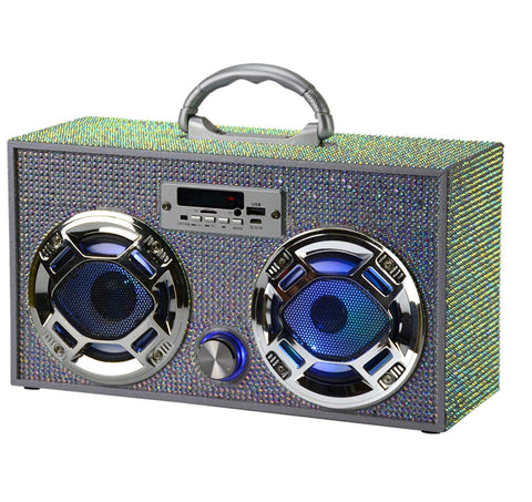 Bling Iridescent Boom Box