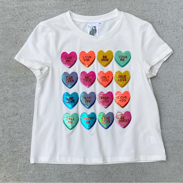 Sweetheart Sequin Tee