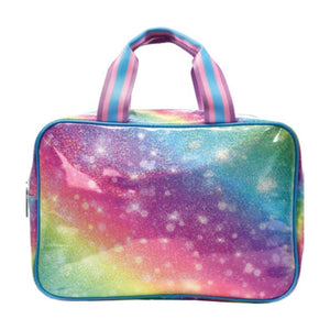Shimmering Rainbow Large Cosmetic Bag