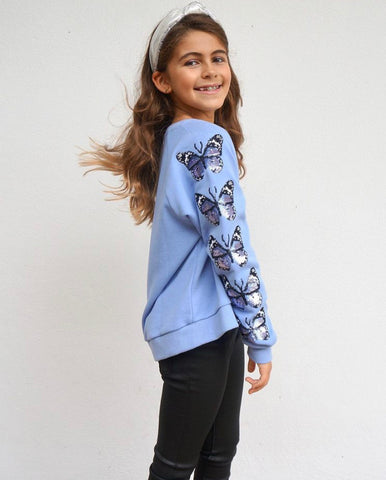 Sequin Butterfly Sweatshirt