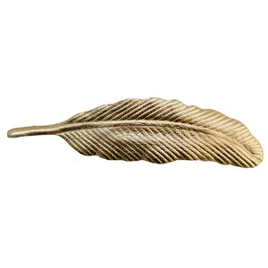 Leather Feather Barrette