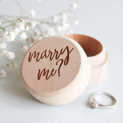 Wooden Proposal Ring Box, Engagement Ring Box