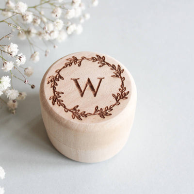 Monogram Ring Box, Custom Wood Ring Box