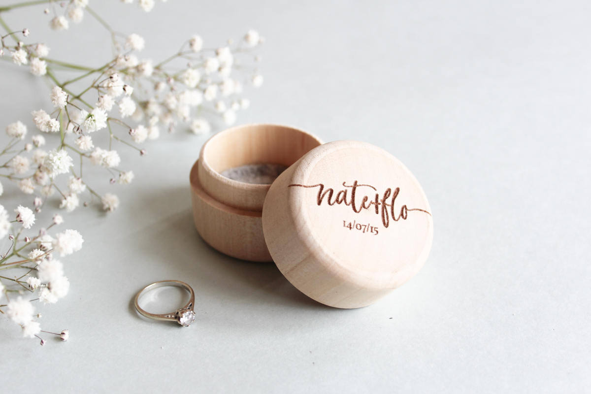 fira-site - Modern Wooden Ring Bearer Box