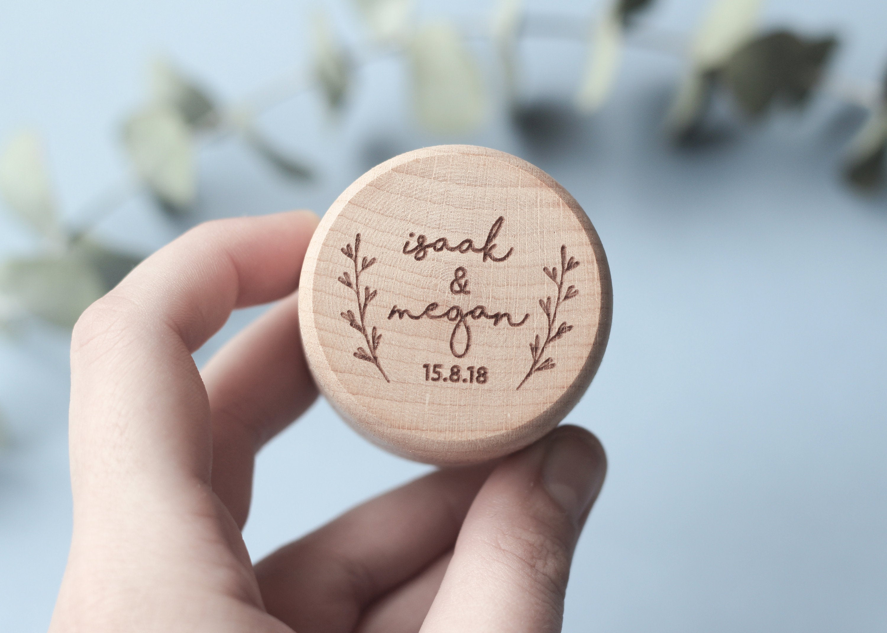 fira-site - Personalised Floral Wedding Ring Box