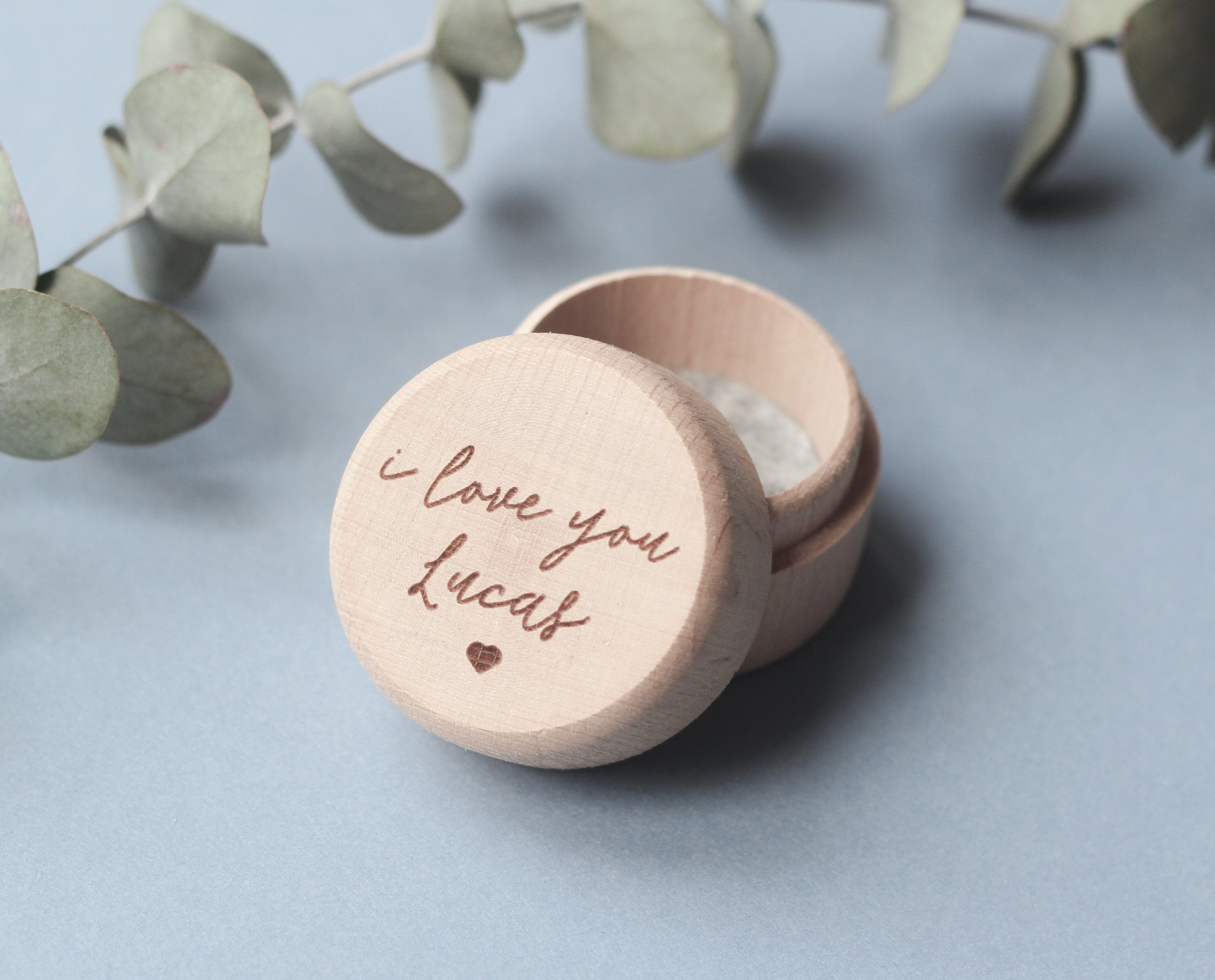 fira-site - Personalised I Love You Wooden Ring Box