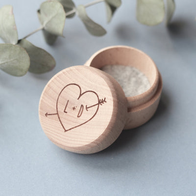 Personalised Ring Box, Initial Ring Box