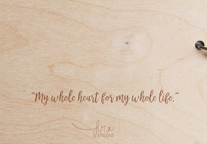 fira-site - Personalised Modern Wooden Wedding Guestbook