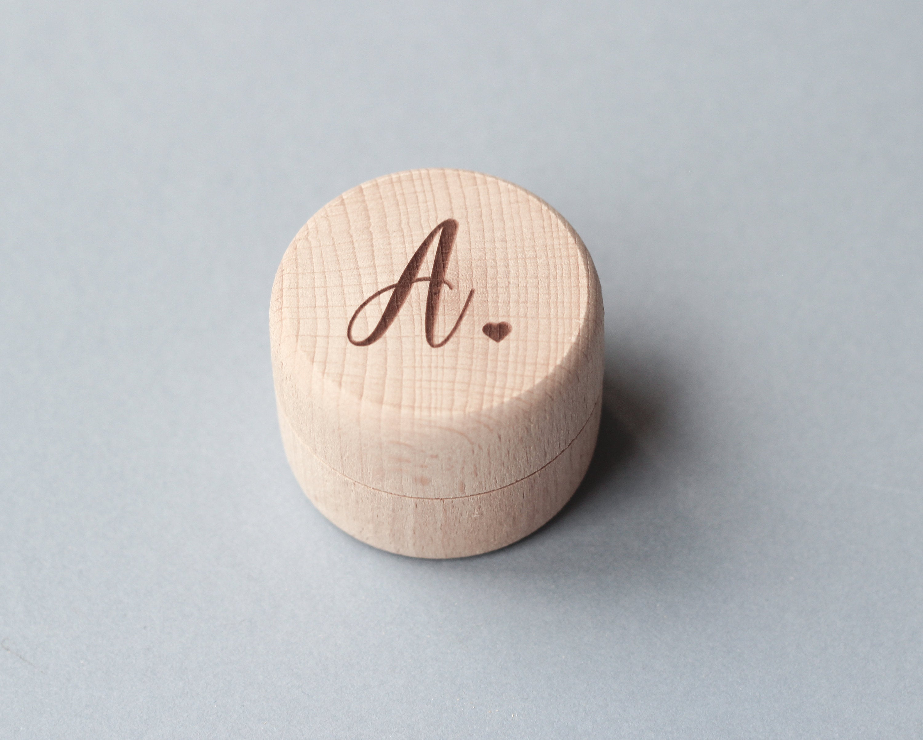 fira-site - Wooden Ring Box With Your Initial And Heart