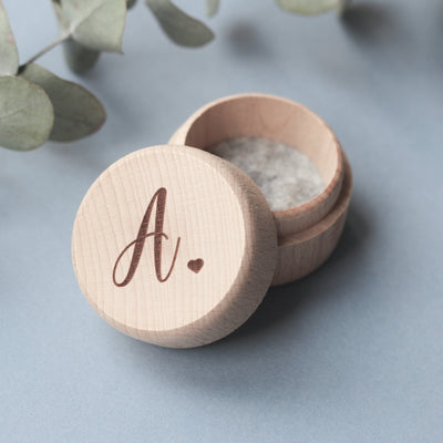 Initial Ring Box, Monogram Ring Box