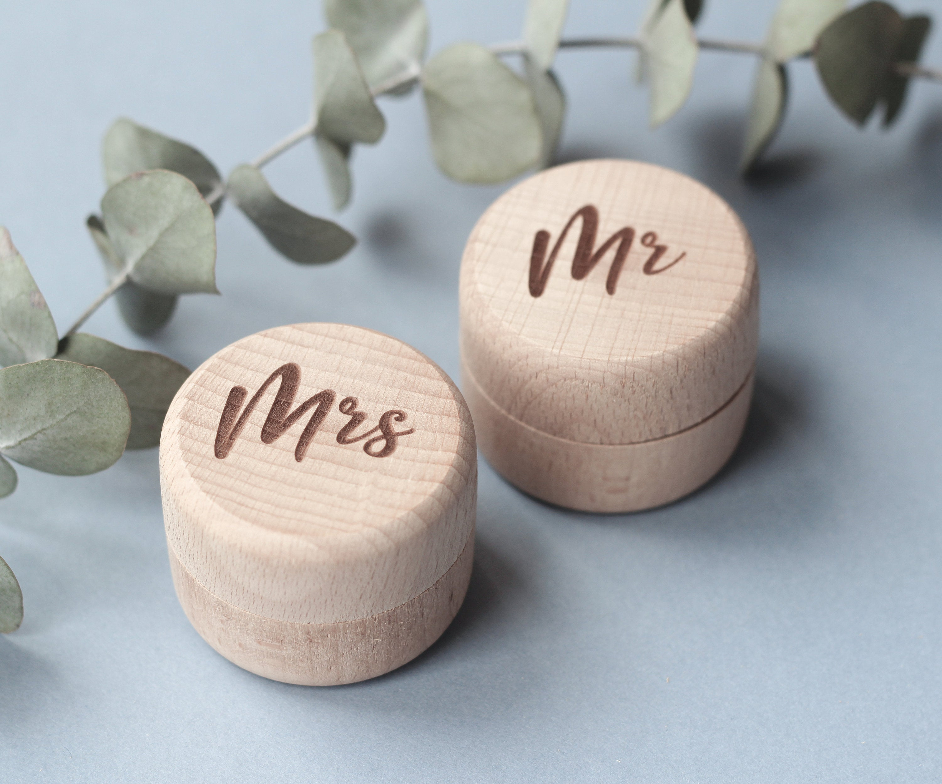 Mr Mrs Ring Box, Wedding Ring Box