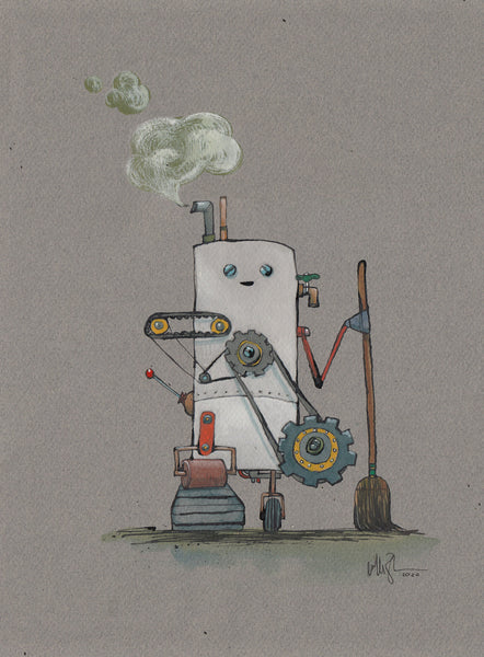 Robot Sweeper Print