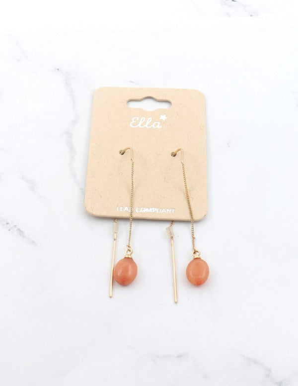 Peach Double Drop Earrings