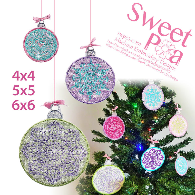 machine embroidery design, machine embroidery, in the hoop, Christmas, Mylar