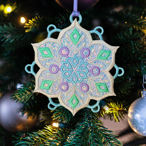 Free mylar ornament machine embroidery design free in the hoop design