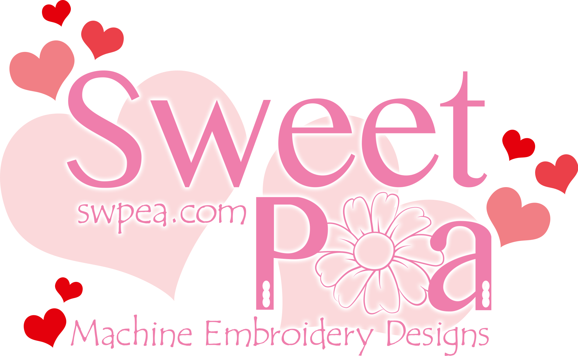 Valentines Themed Sweet Pea logo