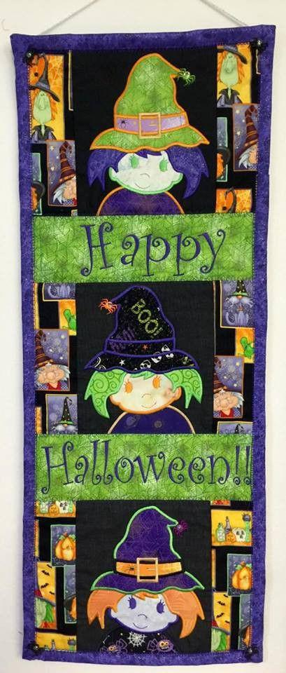 Witch table runner 6x10 7x12 in the hoop machine embroidery design - Sweet Pea In The Hoop Machine Embroidery Design