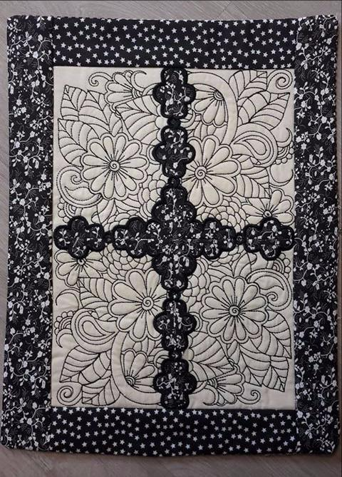 Flower colouring in placemat 5x7 and 6x10 - Sweet Pea In The Hoop Machine Embroidery Design