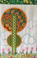 Houses Quilt 5x7 and 6x10 - Sweet Pea In The Hoop Machine Embroidery Design