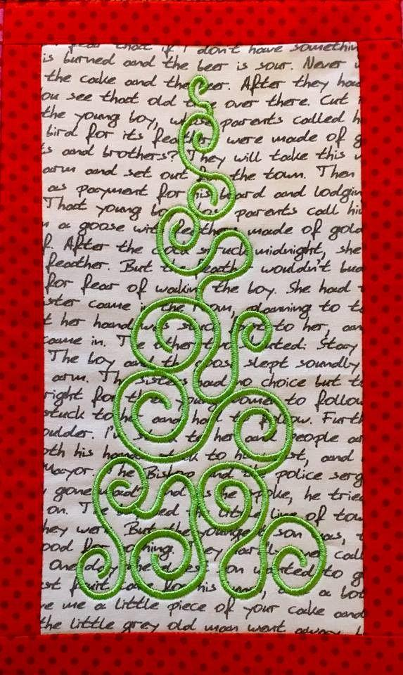 Christmas Tree Table Runner 5x7 6x10 8x12 - Sweet Pea In The Hoop Machine Embroidery Design
