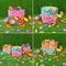 Assorted Easter Fabric Baskets 5x7 6x10 7x12 8x12 9.5x14