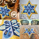 Hanukkah Dreidel Table Centre 5x7 6x10 7x12