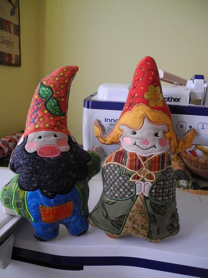 Peter and Poppy the Gnome Stuffed Doll - Sweet Pea In The Hoop Machine Embroidery Design