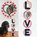 LOVE Free Standing Lace Wall Hanger 4x4 5x7 6x10 7x12