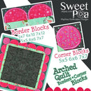 Arched Quilt Border Block 5x5 6x6 and 7x7 - Sweet Pea In The Hoop Machine Embroidery Design