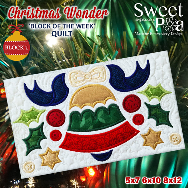 BOW Christmas Wonder Mystery Quilt Block 1